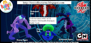 McDonalds Bakugan Happy Meal Toys - Australia and New Zealand Release 2010
