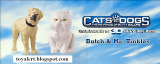 Burger King Cats and Dogs Toys - Revenge of Kitty Galore - Butch and Mr Tinkles