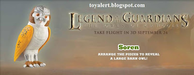 Burger King Legends of Guardians toys - Owls of Ga'hoole - Soren