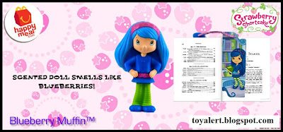 McDonalds Strawberry Shortcake Happy Meal Toy Promotion 2010 - Blueberry Muffin with bookmark