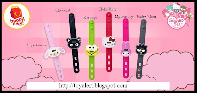 McDonalds Sanrio Hello Kitty Watches 2010 - Happy Meal Toy promotion in November and December 2010