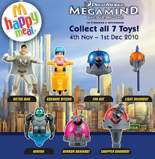 McDonalds Malaysia Megamind Happy Meal Toys