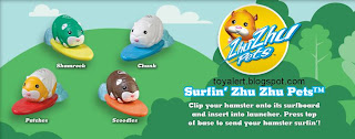 Burger King Zhu Zhu Pets Hamster Kids Meal Toys - BK kids meal promotion December 2010 - Shamrock, Patches, Chunk, Scoodles,