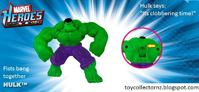 McDonalds Marvel Heroes toy promotion in Australia and New Zealand 2010 - Hulk