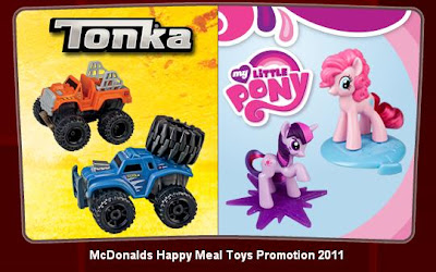 McDonalds Tonka and My Little Pony Happy Meal Toy Promotion - US Release 2011