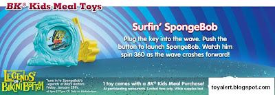 Spongebob's Legends of Bikini Bottom kids meal toys - Surfing SpongeBob