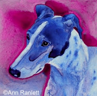 Blue Boy - greyhound art by AnnRan