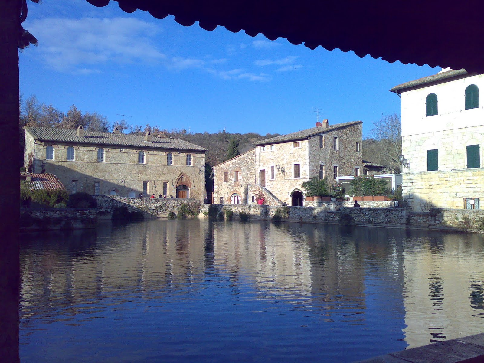 Lees Tuscan Odyssey: 13. Bagno Vignoni hot springs and Pienza