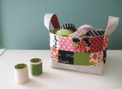 Pink Penguin Tutorial Fabric Basket  Blogger