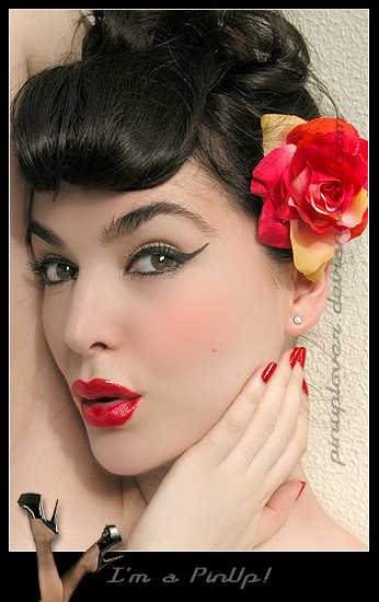 Tags:rockabilly pin-up pinup burlesque hairdo vintage easy hairstyle hair