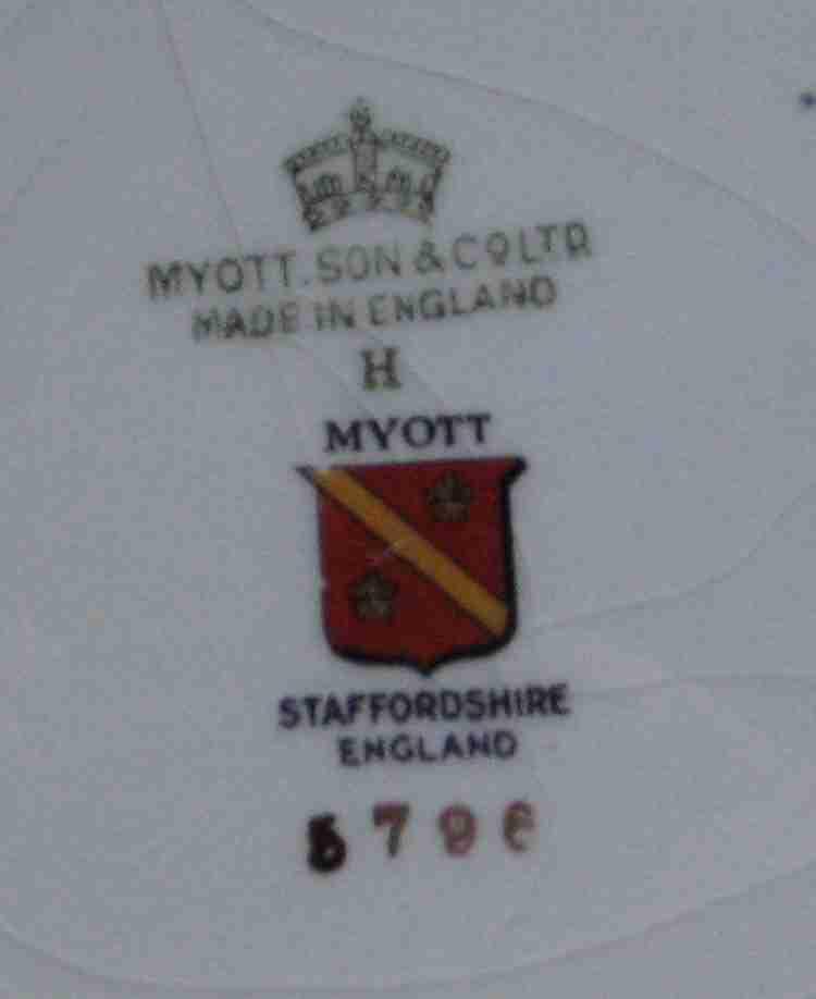 Myott Son Co England Hand Painted