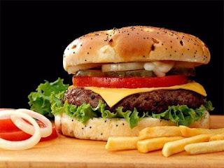 Hamburger na fotografovanie