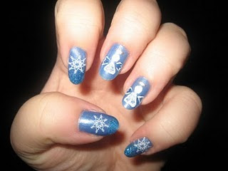 Inspired for your Christmas Angels Nail Art Designs