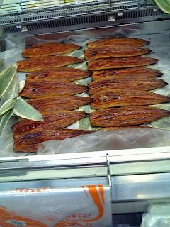 broiled eel in supermarket