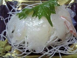 hirame no sashimi