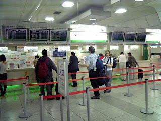 ticket counter of shinkansen