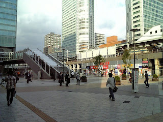 a square in front of akihabara station