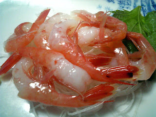 amaebi no sashimi