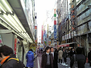 back street in akihabara electric town