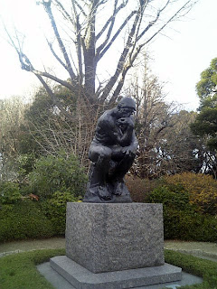 Thinker in the garden of the National Museum of western Art