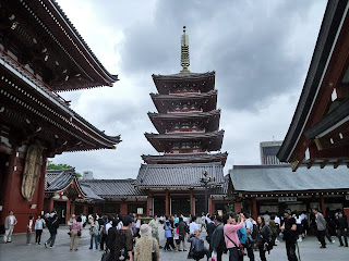 five storied pagoda in senso-ji temple