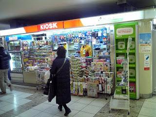 train station kiosk