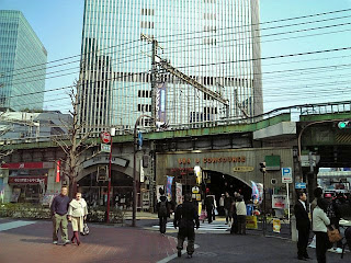 railroad overpass at yurakucho