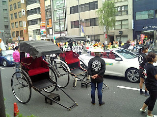 rickshaw in ginza