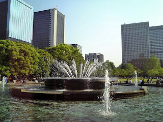 large fountain in hibiya park