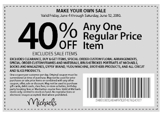 Frugal Life Project: Michaels & Hobby Lobby - 40% off one ...