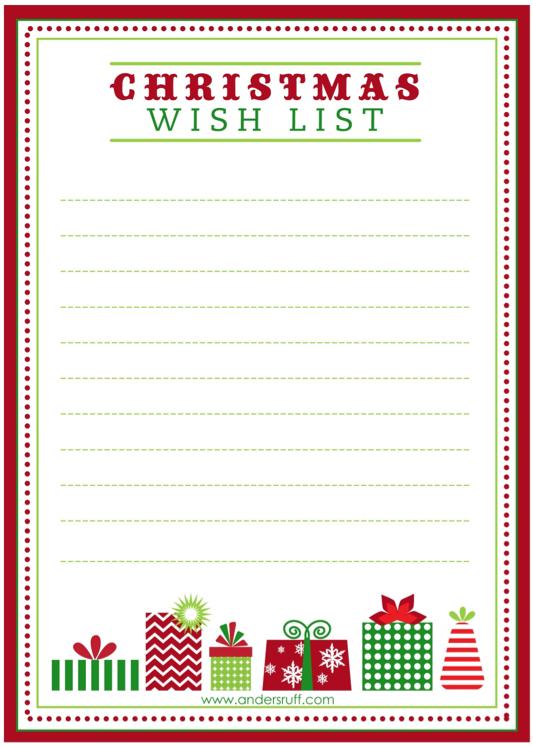Doc8591100 Christmas Wish List Template Free Printable Letter – Free Christmas List Template