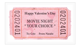 Frugal Life Project Free Ticket Printable Great For Valentine S Day