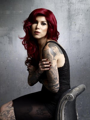 kat von d with red hair body image