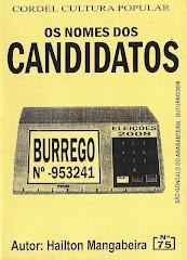 Cordel: Os nomes dos Candidatos, nº 75. Outubro/2008
