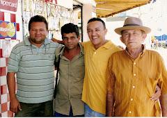 Cordelistas Boquinha de Mel, Moacy Barbosa, Hailton Mangabeira e Xexéu