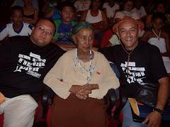Boquinha de Mel, Dona Militana e Hailton Mangabeira no Lançamento do Cordel: Dona Militana