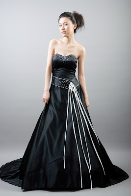 Black and White Evening Gown 8