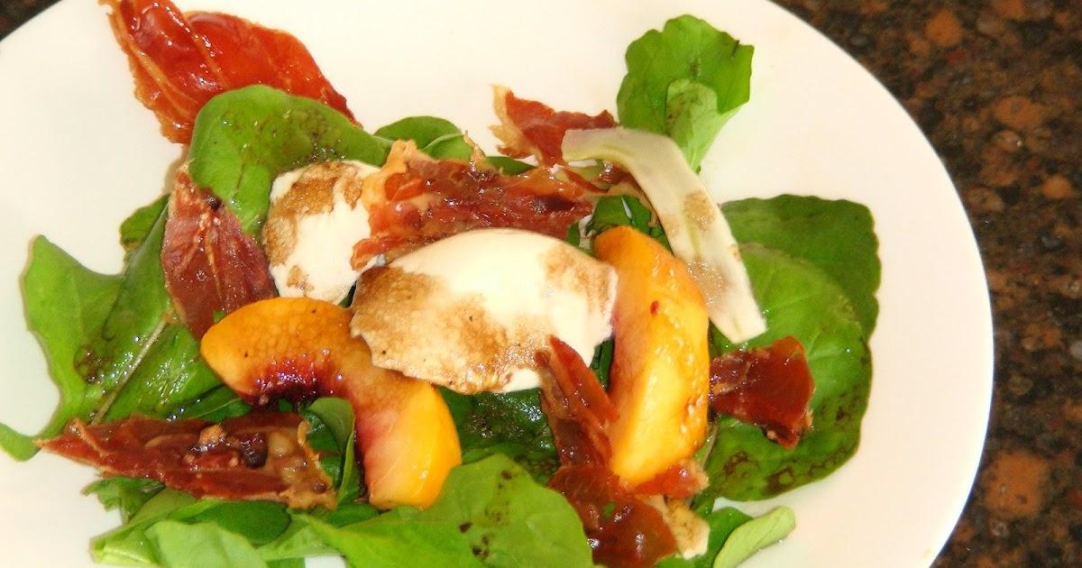 ... Peach, Shaved Fennel, Mozzarella, and Crispy Prosciutto Salad *Recipe