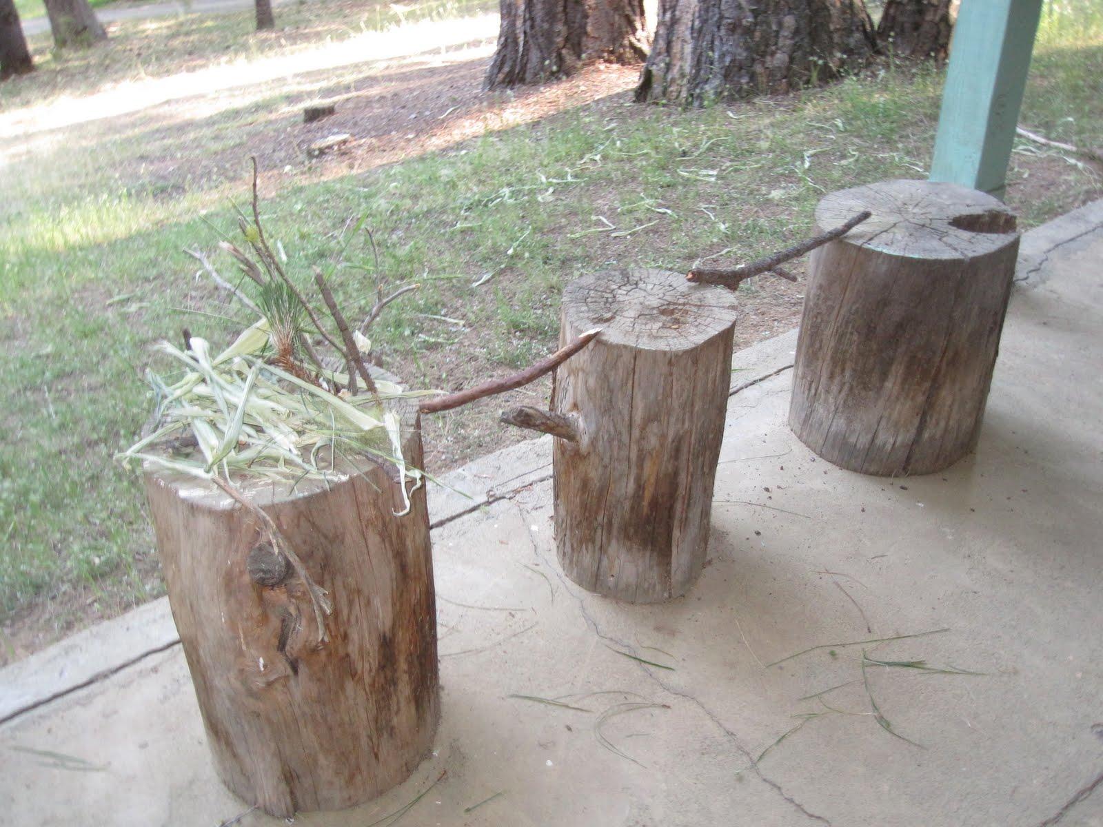 Tree stump fairy house - Fun Friday Build A Fairy House