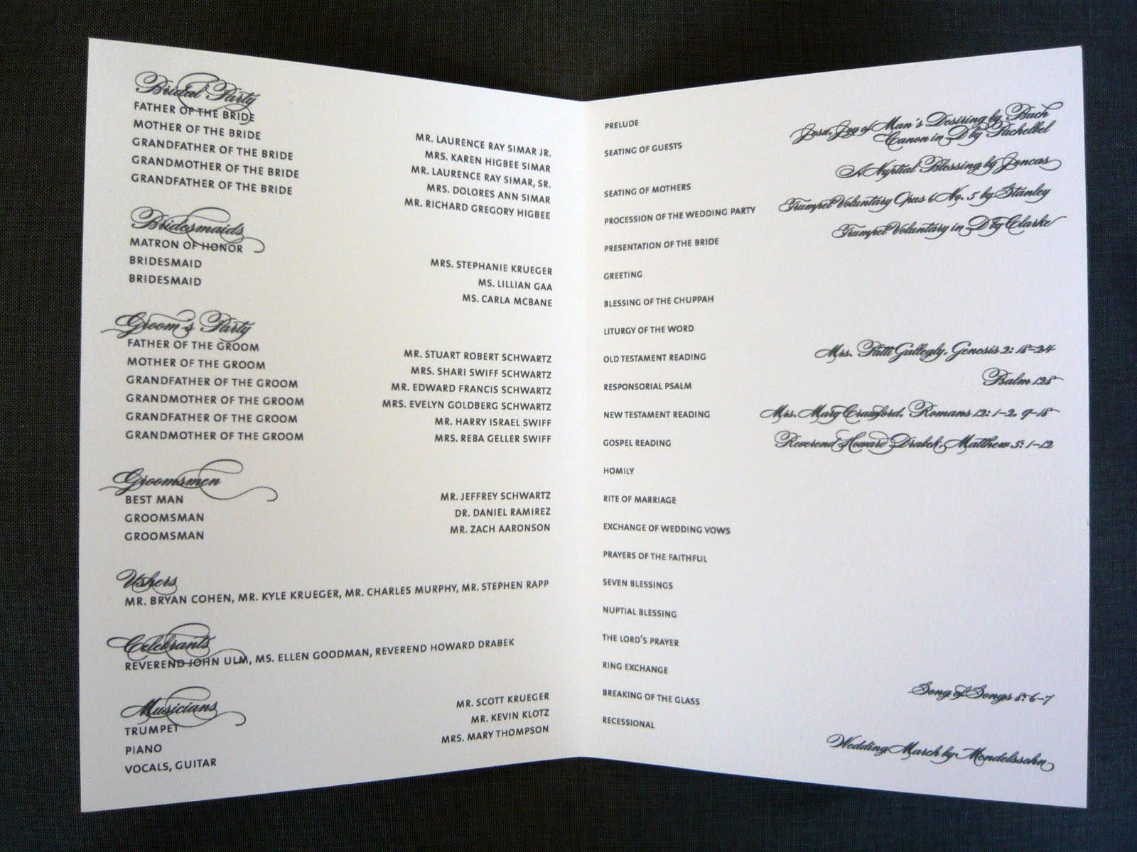 Wedding Program Inclusions What Should Be Included In A Wedding Program?. Wedding  Program Inclusions