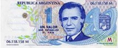 Un Peso  =  Un Dolar
