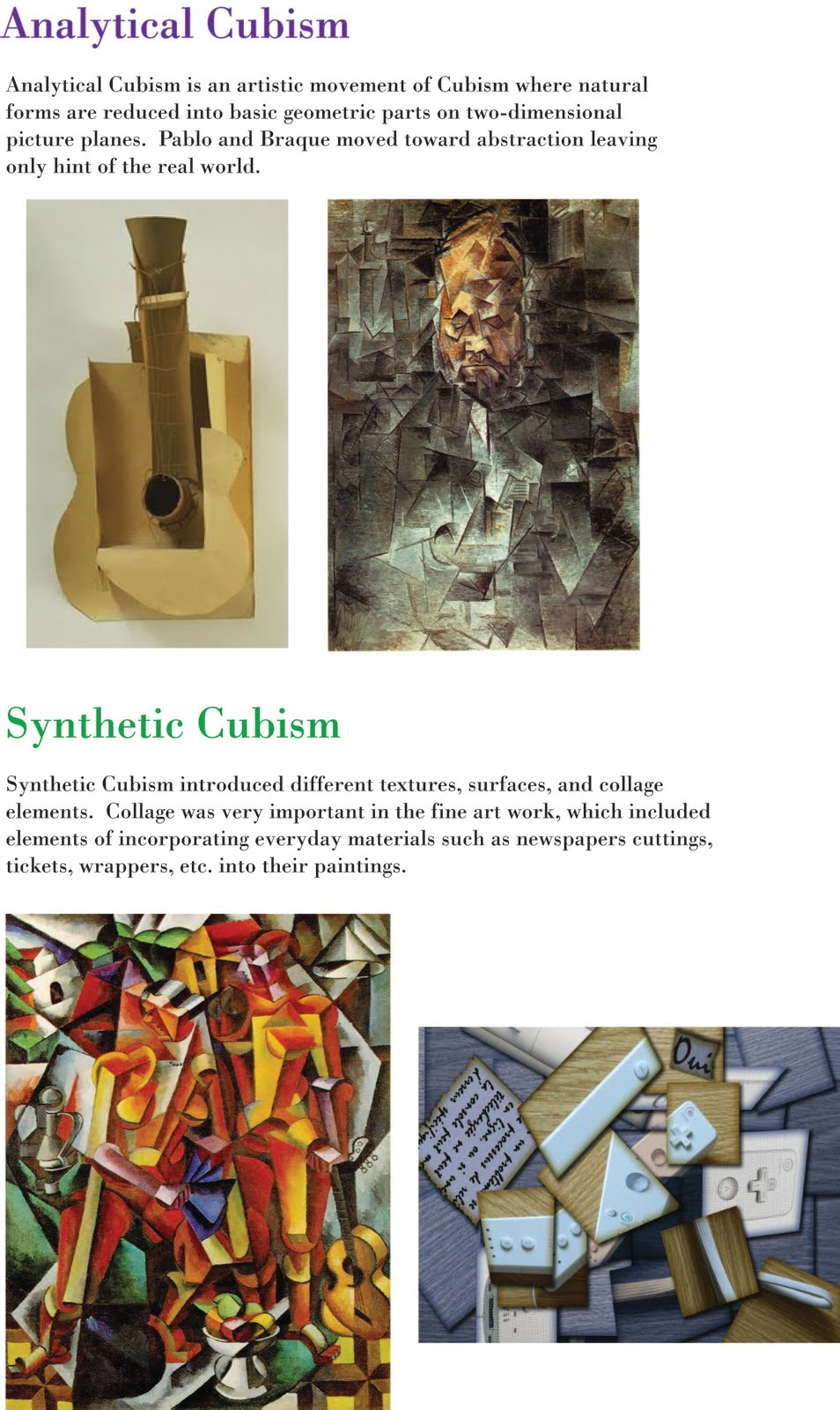 analytical cubism essay The analytical phase of cubism involved, despite forms still remaining legible,  the breaking of closed form, and the incorporation of illusionism.