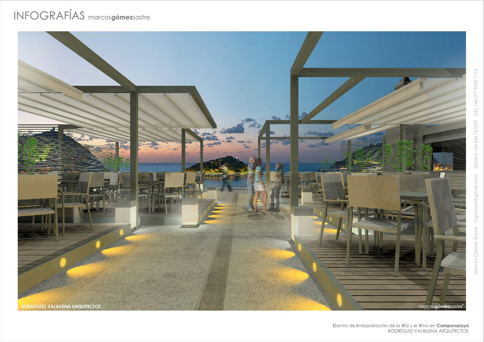 Z2 infografias terraza en san sebasti n rodr guez - Arquitectos san sebastian ...