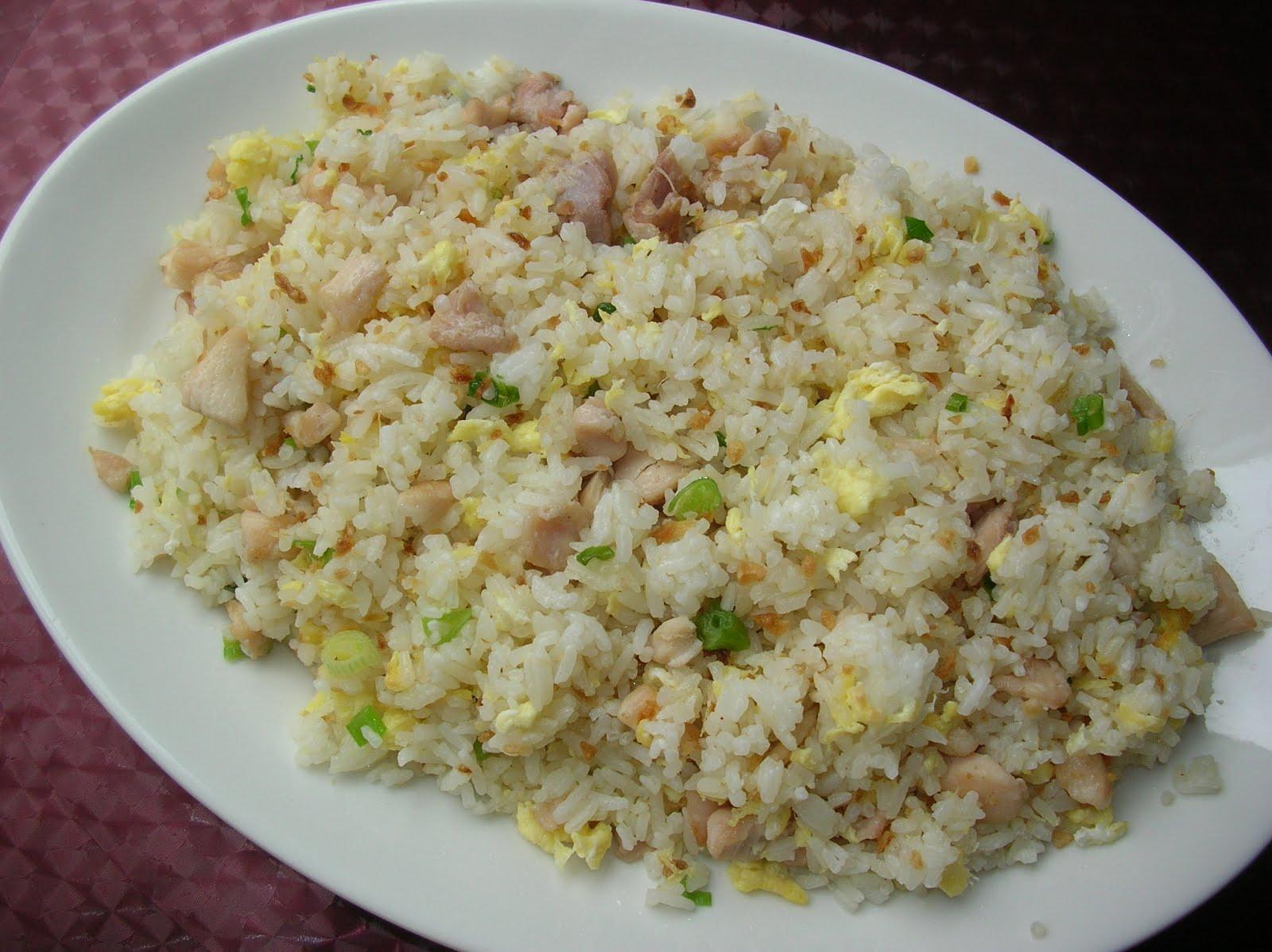 Loretta Simple Recipes: Garlic Chicken Fried Rice