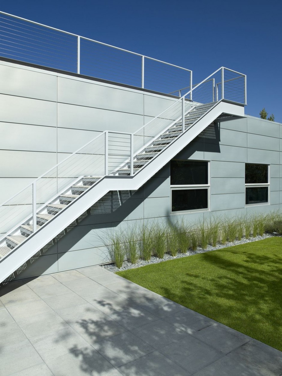 The scholl residence in aspen colorado usa most for Exterior stair design