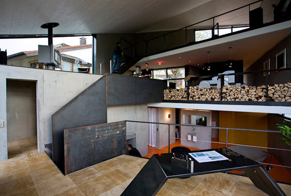 Unusual concrete home germany most beautiful houses in for Open plan modern house