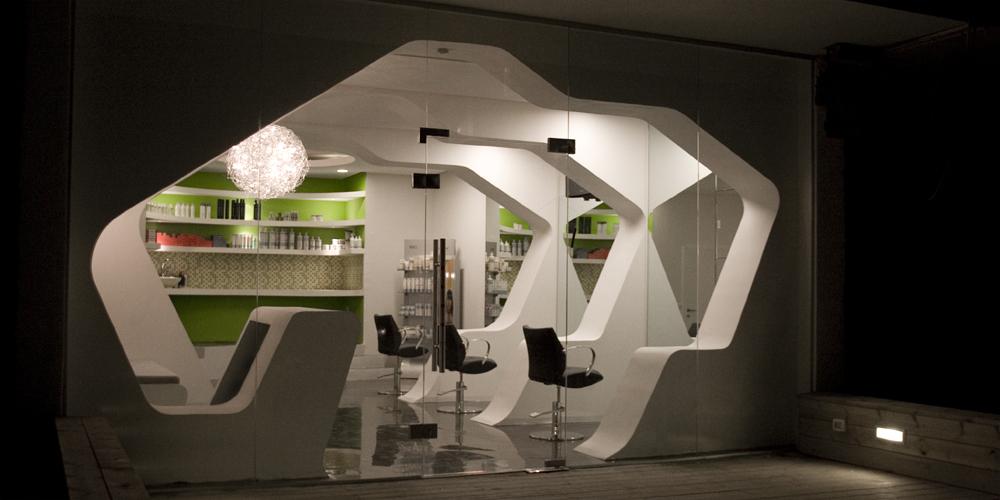 Futuristic barbershop interior design, Israel: Most Beautiful Houses ...