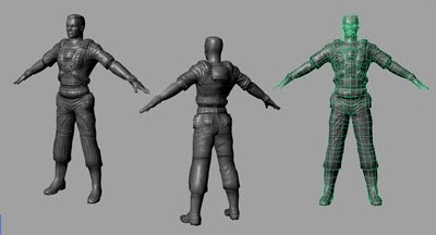several npc low-poly+normal map  characters 2006
