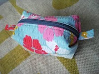 Boxy Pouch with Outside Pleat