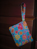 Fully Lined Front Zippered Pouch